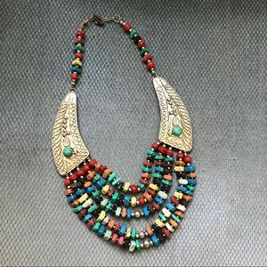 Colorful Southwestern Style Statement Necklace